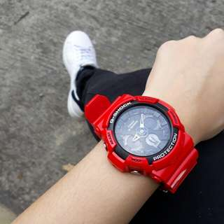 Casio GSHOCK Red Limited Edition 2017 GA-201RD-4A Resin Sport Watch