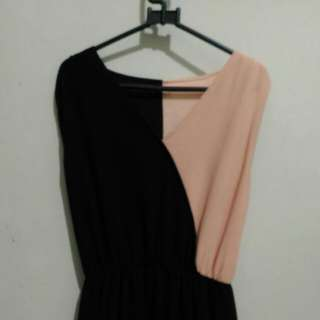 Black and Softpink Dress