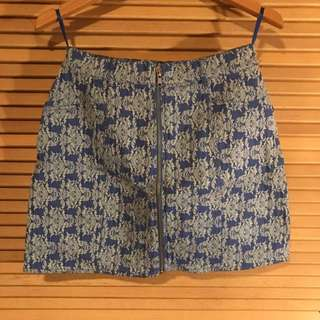 Blue high waisted skirt