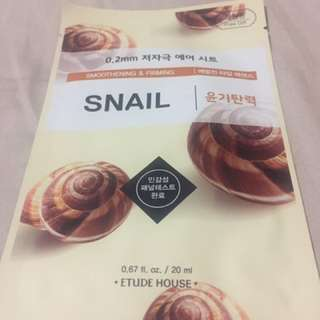 Etude House Smoothening & Firming Snail Mask