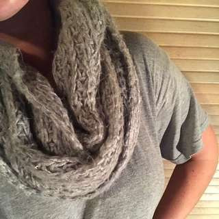 Wool grey scarf