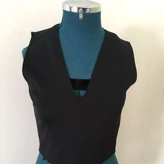 Zara Black Cropped Top