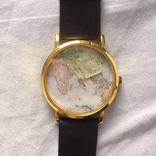 world map watch