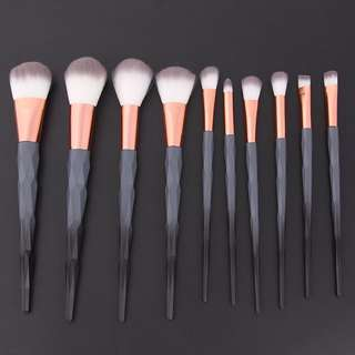 10pcs Black Make Up Brushes