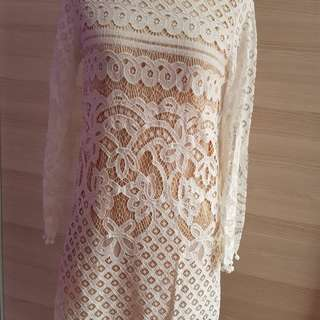 White lacey dress