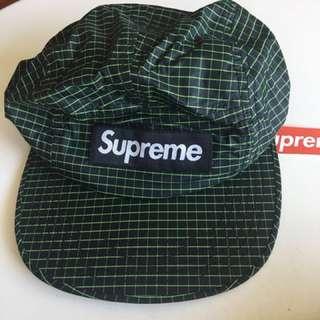 Supreme 2016 Two Tone Rip Stop Camp Cap (Black)