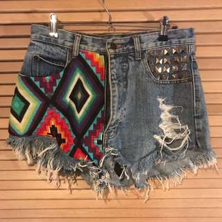 Stylised high waisted shorts