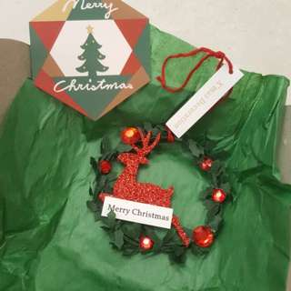 Christmas Wreath Decoration Reindeer