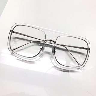 Transparent Retro Glasses