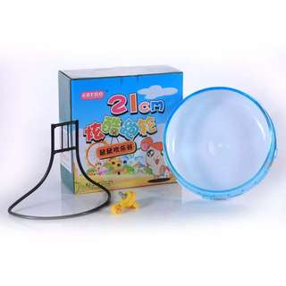 Carno 21cm Hamster Running Wheel with Stand