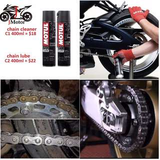 Motul Universal C1 & C2 Chain Maintenance Kit chain lube lubricant clean