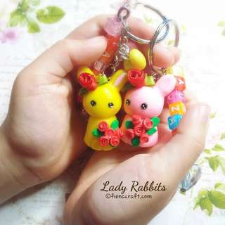 Keychain with names rabbit