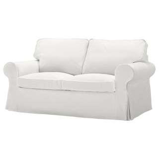 Ikea white sofa