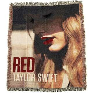Taylor Swift Red Concert EXCLUSIVE Woven Tapestry Throw Blanket - Limited Edition