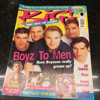 BIG! Magazine - Boyzone cover