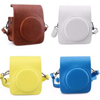 For Fujifilm Instax Mini 70 Instant Camera Protective PU Leather Bag - White, Blue, Brown, Yellow