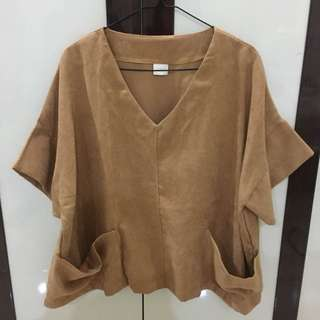 Brown Mary Top