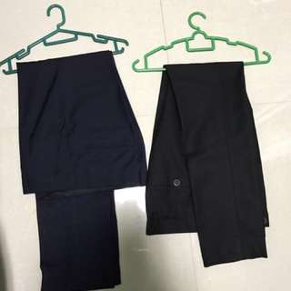 Formal Pants Size 30 Black And Navy $15 each