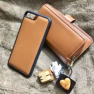 High Quality Leather Brown Iphone 7+ Wallet case