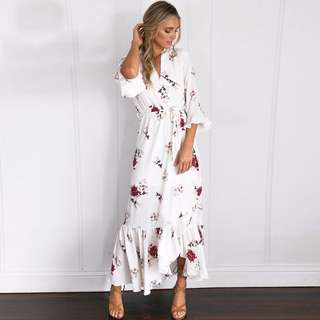 PO Nayla Floral Maxi Dress