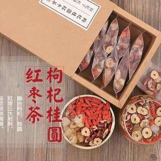 11/8號結單預購 桂圓紅棗茶 一盒$250元  一盒20包入