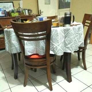 Dining Table Meja Makan Bulat Kayu Jati