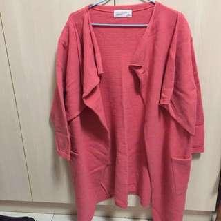 韓製 針織 罩衫 外套 #四百不著涼
