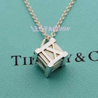 🚚 【LEO FASHION】二手正美品 Tiffany & Co. 經典立體羅馬數字方塊項鍊