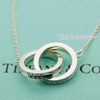🚚 【LEO FASHION】二手正美品 Tiffany & Co. 經典1837雙戒指項鍊