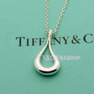 🚚 【LEO FASHION】二手正美品 Tiffany & Co.  設計師款淚滴造型項鍊