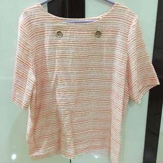 Orange Stripe Shirt