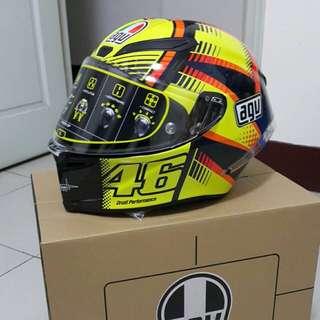 VR46 Rossi AGV Pista GP Soleluna Qatar 15  安全帽 碳纖維 卡達紀念版