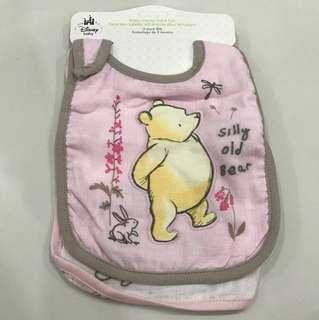 BNWT Set of 2 Winnie the Pooh Bib