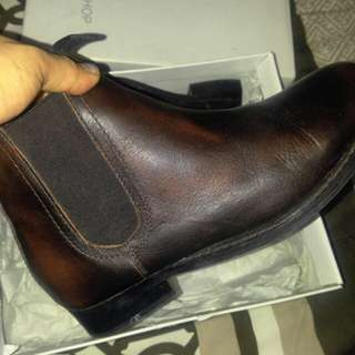 Topshop leather boots - chocolate brown