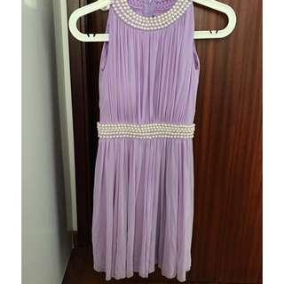 Lilac/Purple Beaded Bridesmaid Dress