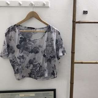 Miss selfridge Floral Croptop