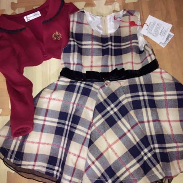 諾貝達外套+小洋裝套裝組