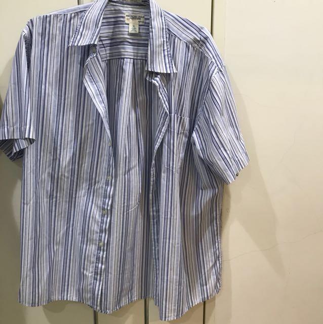 條紋短襯衫