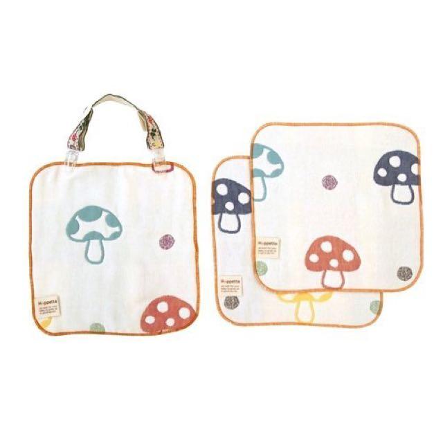 多功能蘑菇手帕口水巾四件組