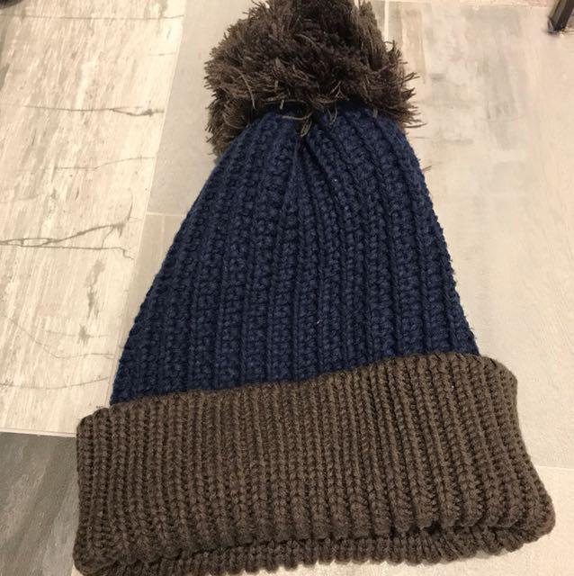 針織撞色 毛帽