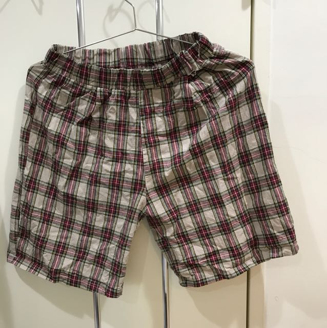 韓國代購 格紋短褲