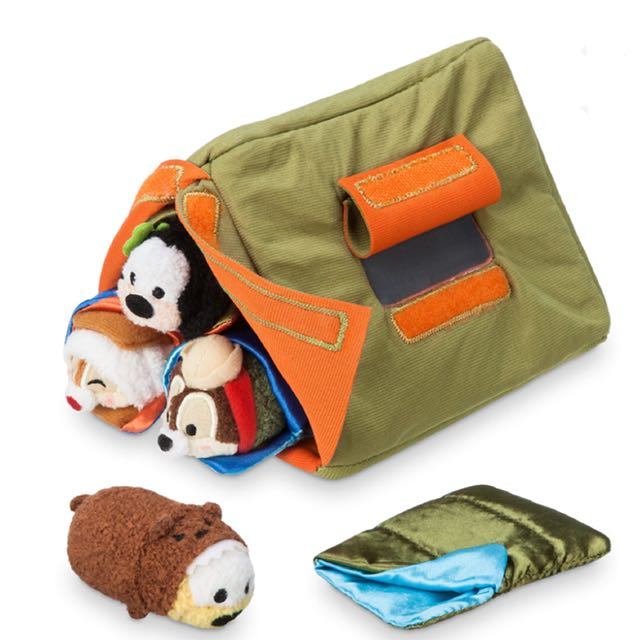 美國迪士尼 高飛狗 布魯托 奇奇與蒂蒂 micro tsum tsum 帳篷睡袋露營組