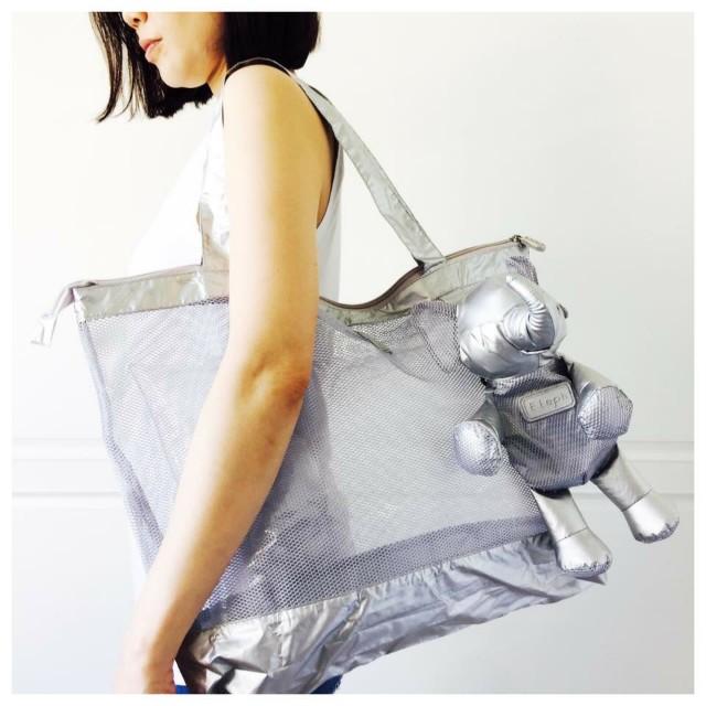 ‼️預購‼️ 新款 eleph 大象折疊包- 限量銀色網狀款