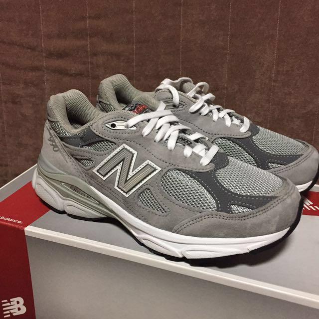 現貨 NEW BALANCE 990美製 made in USA 總統慢跑鞋 灰色 22.5 女 避震