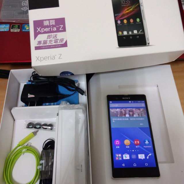 二手 Sony Xperia Z C6602 白色 5吋1300萬像素