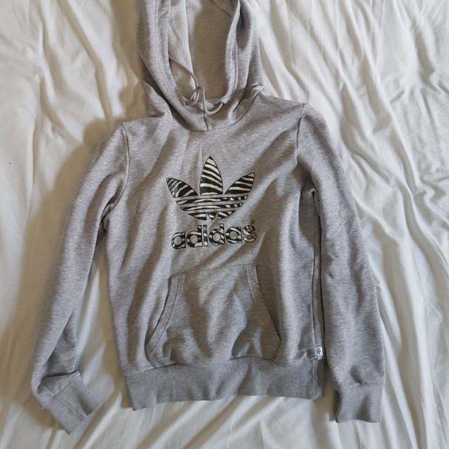 Adidas grey zebra print size 6 hoodie