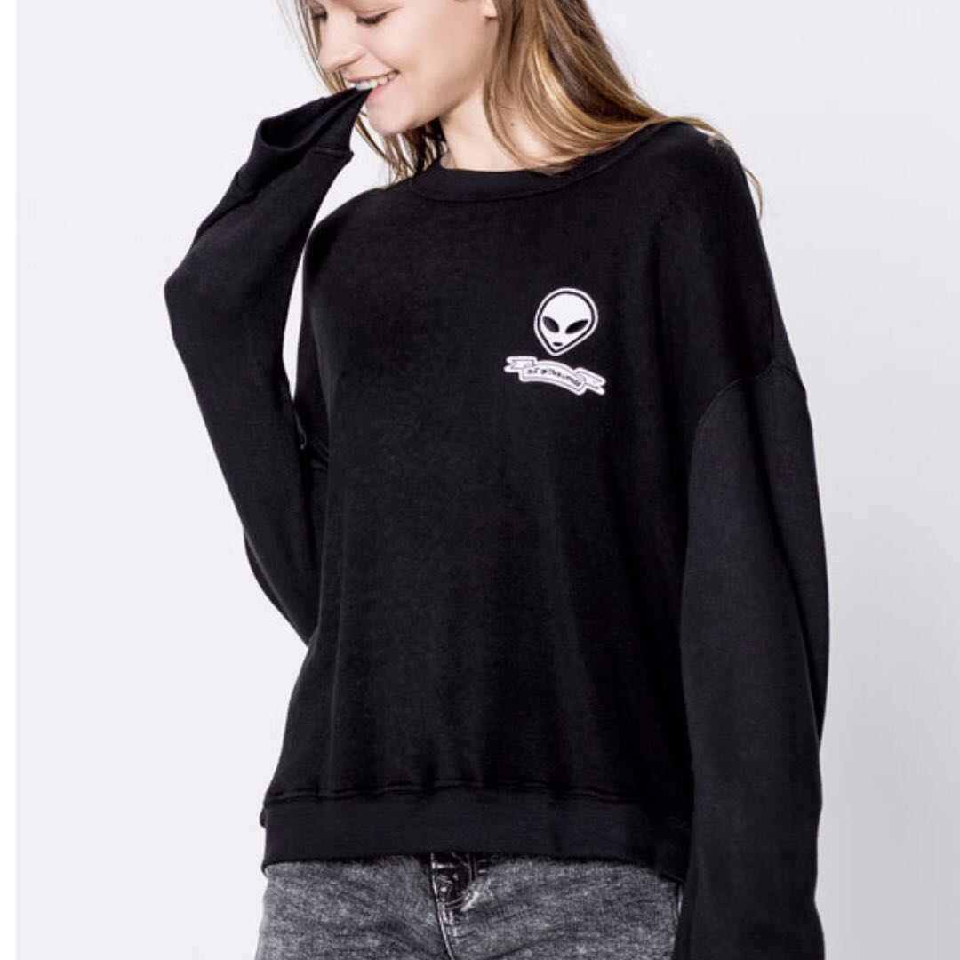 Alien Logo Black Jumper