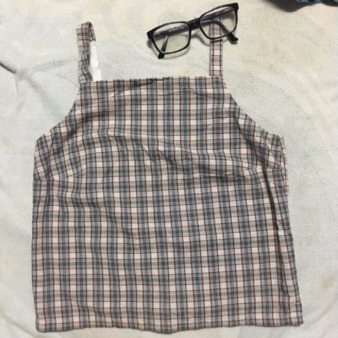 American Eagle Outfitters Plaid Crop Top