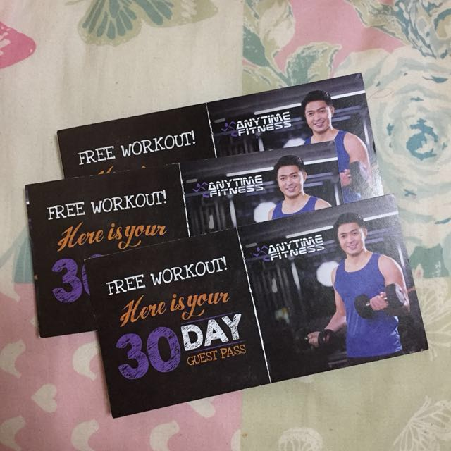 Anytime Fitness Gym 30 Days Guest Pass Gift Certificate