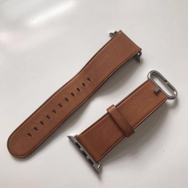 b89ea8155 Apple Watch Strap 42mm Saddle Brown Classic Buckle, Luxury, Watches on  Carousell